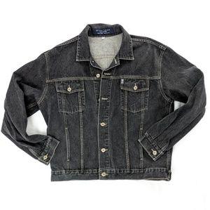 Vintage Black Denim Stonewash Jean Jacket